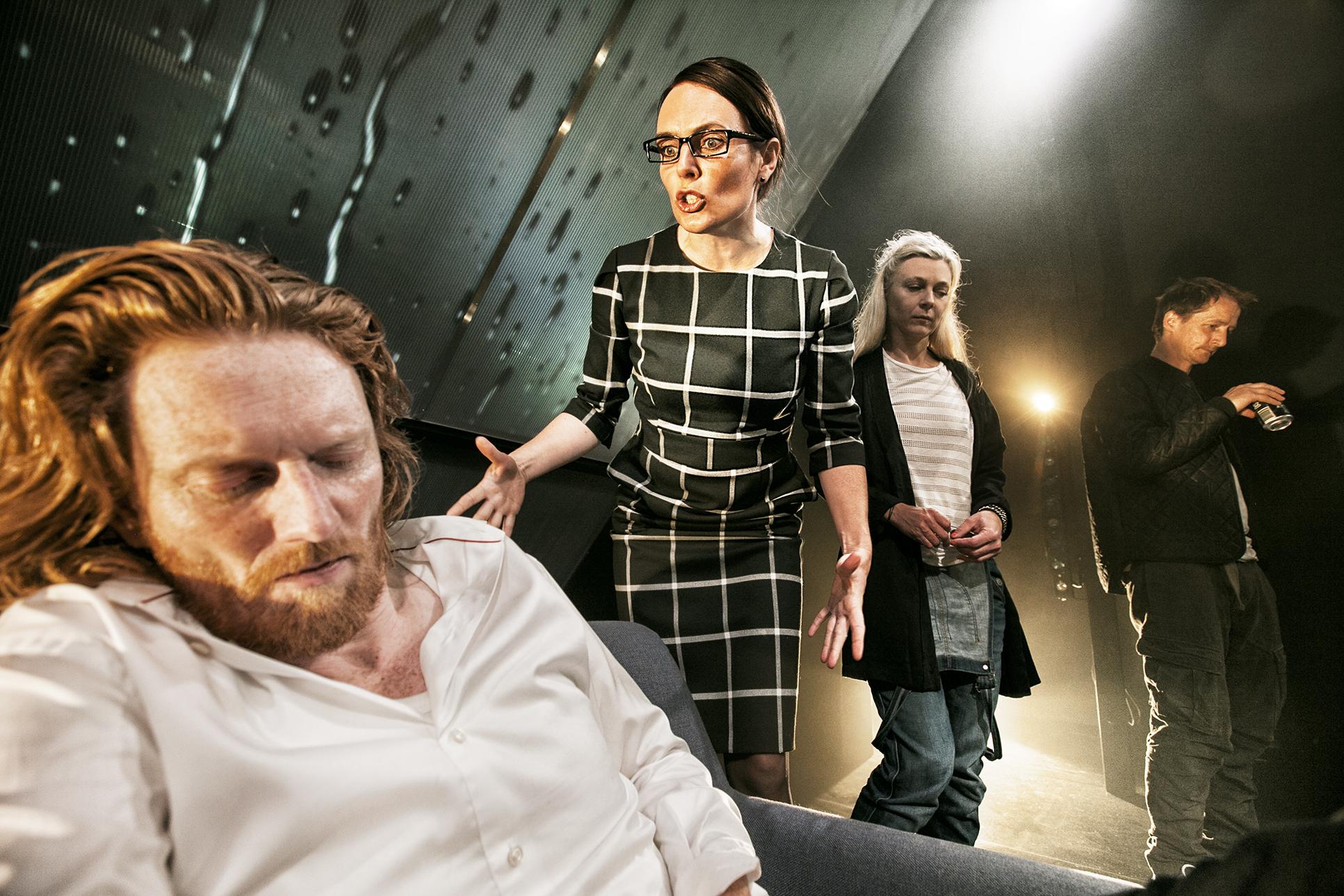 Nils P. Munk, Marianne Søndergaard, Betina Grove og Joen Højerslev  Foto: Per Morten Abrahamsen