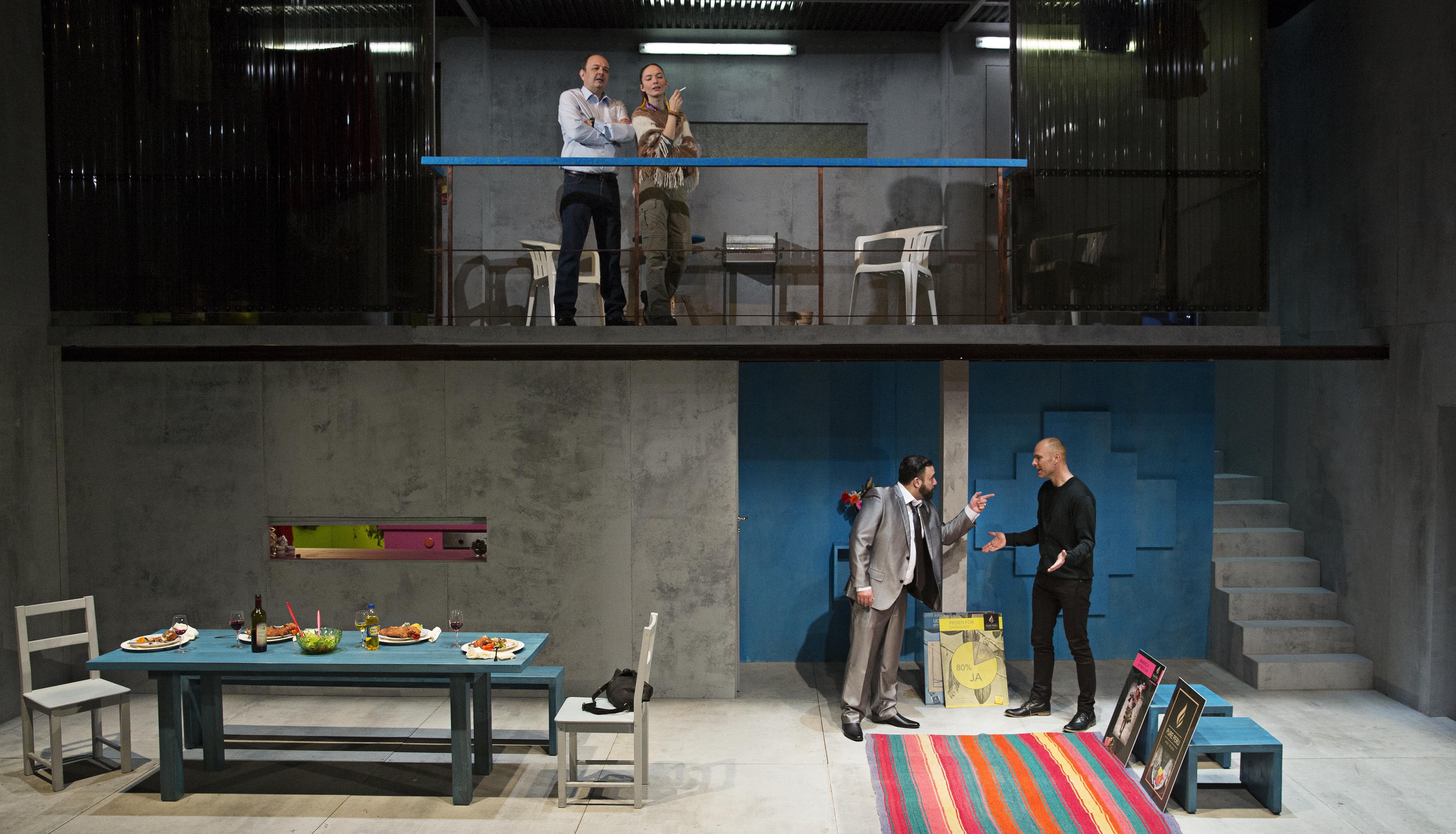 Steen Stig Lommer, Neel Rønholt, Claudio Morales og Per Scheel-Krüger<br /> Foto: Christian Geisnæs