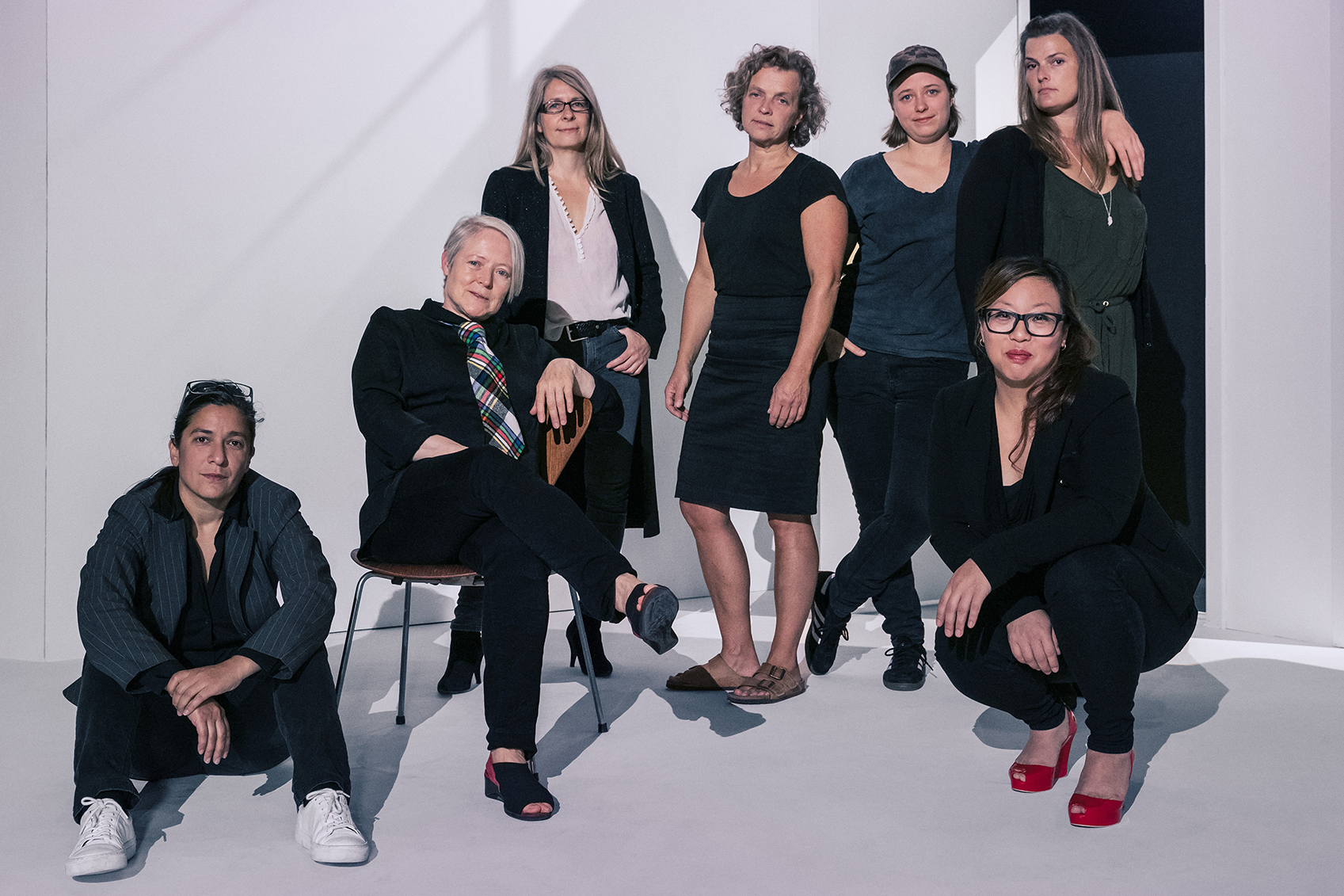 Sonja Lea, Madeleine Røn Juul, Gøje Rostrup, Gitte Knudsen, Weronika Andersen, Maja Ries og Joan Rang Christensen. Foto: Thomas Cato